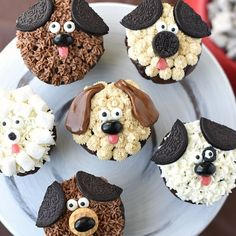 Looking to make puppy dog cupcakes for a birthday cake or other event? These pup… Looking to make puppy dog cupcakes for a birthday cake or other event? These puppy cupcakes are easy to make and perfect for a dog birthday party! Puppy Birthday Parties, Puppy Party, Birthday Fun, Birthday Ideas, Birthday Decorations, Halloween Decorations, Dog Themed Parties, Homemade Birthday, Women Birthday