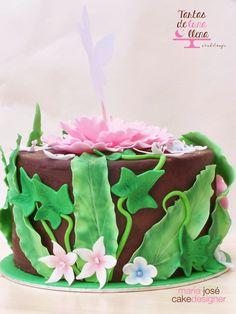 Tartas de luna llena: Tarta Campanilla y Receta Brownie de chocolate - Tinkerbell Cake and Chocolate brownie receipe