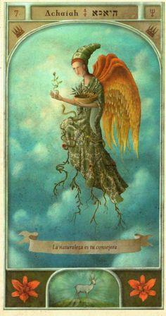 (7) ACHAIAH (Kabbalistic angel) protects those born 21 - 25 April, eases decision-making and enables patience. (ángel Cabalístico) proteje aquellos nacidos 21 - 25 abril, facilita la toma de decisiones y permite tener paciencia.