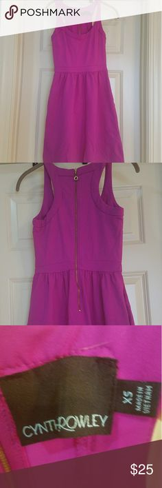 Cynthia Rowley GORGEOUS fuschia cocktail dress Pockets! Stretchy material! This dress is awesome. Size is XS but easily fits as a size small and even medium. Cynthia Rowley Dresses