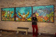 "2016 Online Art Glass Festival 1st Place Mosaics ""Resonance"" by Julie Christensen"