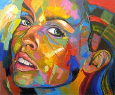 """""""Victoria"""" - Eduard Fleminsky - Saatchi At Artist Abstract Expressionism, Abstract Art, Female Face Drawing, Original Paintings, Original Art, Art Projects For Adults, Art Journal Inspiration, Face Art, House Painting"""