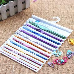 Gancho de Crochet agulhas pontos de tricô agulhas Craft Case New conjunto Crochet agulha ferramenta ponto de malha bordado do bordado em Agulhas de tricô de Casa & jardim no AliExpress.com   Alibaba Group