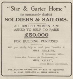 Star and Garter Home. 5 February, 1916.