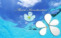 #louloudia #flowers #sea #thalassa #blue #white #earrings #skoularikia