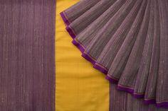 Urdir Handwoven Khadi Cotton Sari 1018692 - Sari / Cotton Saris - Parisera