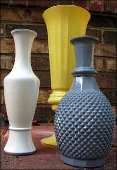 Here's what I'm going to do with all those old lower vases - as well as looking for a couple of interesting ones at thrift stores. So easy and so pretty!