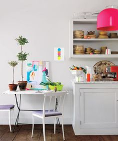 30 Tasteful Ways to Add Colorful Accents to Your Home via Brit + Co.