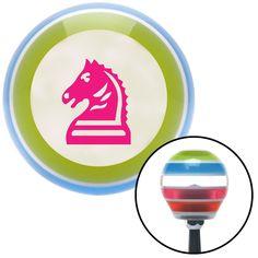Pink Knight Horse Stripe Shift Knob with M16 x 15 Insert