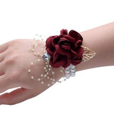 2019 New Girls Corsage Bracelet Fabric Hand Flowers Wedding Prom Party Bridesmaid Wrist Flowers Wedding Supply Accessories Hot Wrist Corsage Bracelet, Wrist Corsage Wedding, Prom Corsage And Boutonniere, Bridesmaid Corsage, Bridesmaid Flowers, Pearl Bracelet, Flower Bracelet, Bridesmaid Bracelet, Bridal Bouquets