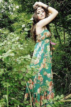 maxi dress hippy chic