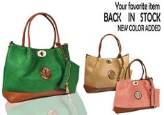 A162 is now back in stock, new color added to make your summer more colorful. check it out here : http://huafu.org/wholesale-handbags-c-1/a162-p-829.html