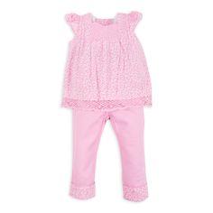 Blusa EPK para bebé niña, en estampado de flores rosadas y con una tira bordada al frente.