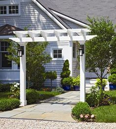 Gateway Pergola | Walkway Pergola - consider at the sidewalk for a walk up to the porch, or paralell to the driveway where the walk meets the drive.