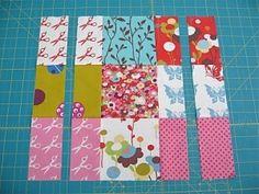 sliced nine patch quilt tutorial by muticmaja