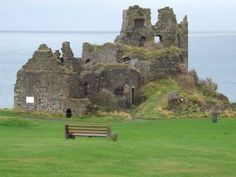 Toured Dunure Castle in scotland