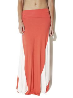 Colorblock Knit Maxi Skirt from Arden B.
