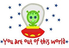 Out of This World Applique - 3 Sizes! | Space | Machine Embroidery Designs | SWAKembroidery.com