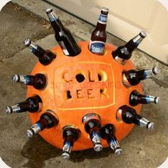 An awesome pumpkin cooler. It's clever, inexpensive and will probably have a lot of people talking!