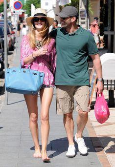 Jason Statham And Rosie Huntington-Whiteley Shopping In St. Barts