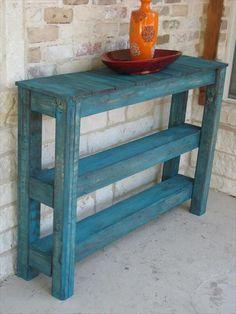 Pallet Outdoor #Table - 10 DIY Pallet Furniture Ideas | 1001 Pallet Ideas building furniture building projects