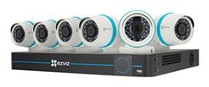 EZVIZ Smart Home 1080p Security Camera System, 6 Weatherproof 1080p IP PoE Cameras, 8 Channel NVR 2TB HDD, 100ft Night Vision, Works with Alexa using IFTTT #homesecuritysystemhouses