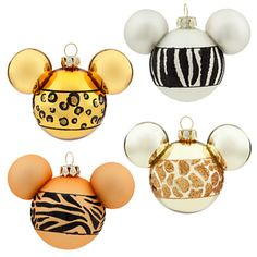 Mickey Mouse Animal Print Ornament Set