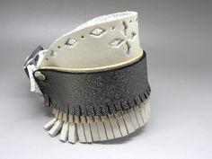 bracelet en cuir ethnique indien à frange #frange #ethnique