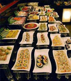 Buffets. And after modern banquets and catering I don't think I want to serve on a buffet line again. It's crazy.