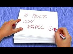 10+1 Trucos con Papel   Truco Apuesta Magia - YouTube Magic Tricks For Kids, Giant Paper Flowers, Preschool Activities, Diy For Kids, Playing Cards, Place Card Holders, Youtube, Ideas, Style