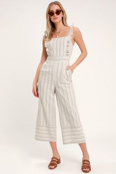 7cd207d7e3 Show your sweeter side in the Lulus Emilia Rae White and Beige Striped