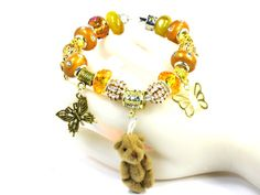 ADOABLE Mothers Day Bracelet Gift GENUINEYellow Citrine BEADS by  ChrisPurseCharming7, $25.00