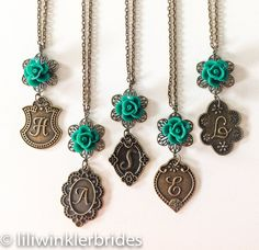 Bridesmad Gift Initial Monogram Necklace by Liliwinklerbrides2, $19.99