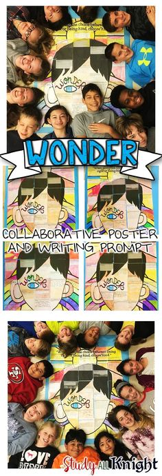 Wonder by R.J. Palacio Writing Activity and Collaborative Poster. Engaging and really fun. Your students will love being creative for this novel activity. ($)