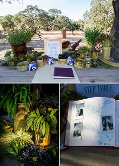 Polaroid Guest Book. Have guests attach photos from the night along with their note!