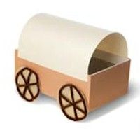 Pioneer Covered Wagon the kids can make from simple materials. See more western crafts at www.makingfriends.com