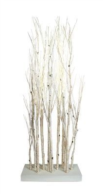 "Standing Birch Branches w/240 LED Lights 5'9""H"