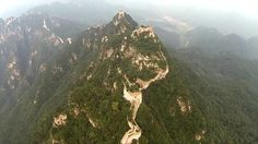 Overflying Jiankou Great Wall with a quadcopter, fpv.