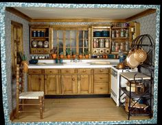 Miniature kitchen from Mary at inpayne.com