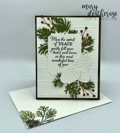 Stampin' Up! Peaceful Beautiful Boughs in White! | Stamps – n - Lingers