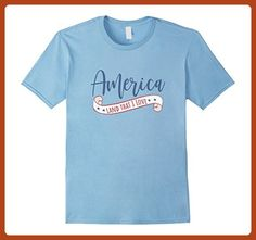 Mens America Land That I Love Shirt for 4th of July 2XL Baby Blue - Holiday and seasonal shirts (*Partner-Link)