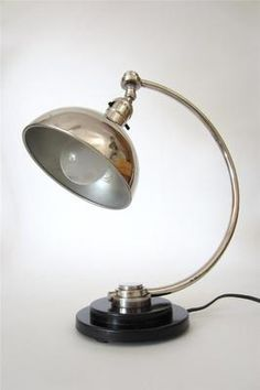1930s Bauhaus Art Deco desk lamp
