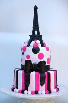 Personalised Eiffel Tower birthday cake topper silver age name Paris Las Vegas
