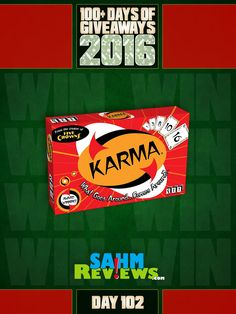 Will karma to work in your favor? You have our permission to brag about something good you've done then head over and enter to win Karma game from Set Enterprises, Inc.!