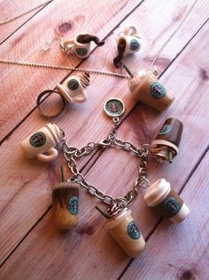 Starbuck's drink set by Newbeadginnings on Etsy, $93.00