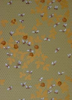 honeybee wallpaper, designed by Candace Wheeler and made