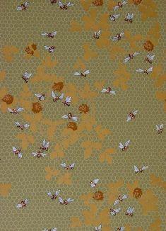 Wallpaper Pattern Honeybee Frieze Onteora Silver