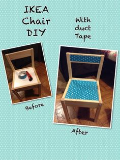 Simple Ikea Kids Chair DIY with Duct Tape