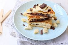 Wentelteefjes met banaan en chocola