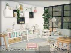 The Sims Resource: Lina Livingroom by ArwenKaboom • Sims 4 Downloads